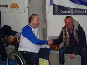 Gigi D'Alessio con Fabrizio Durantini